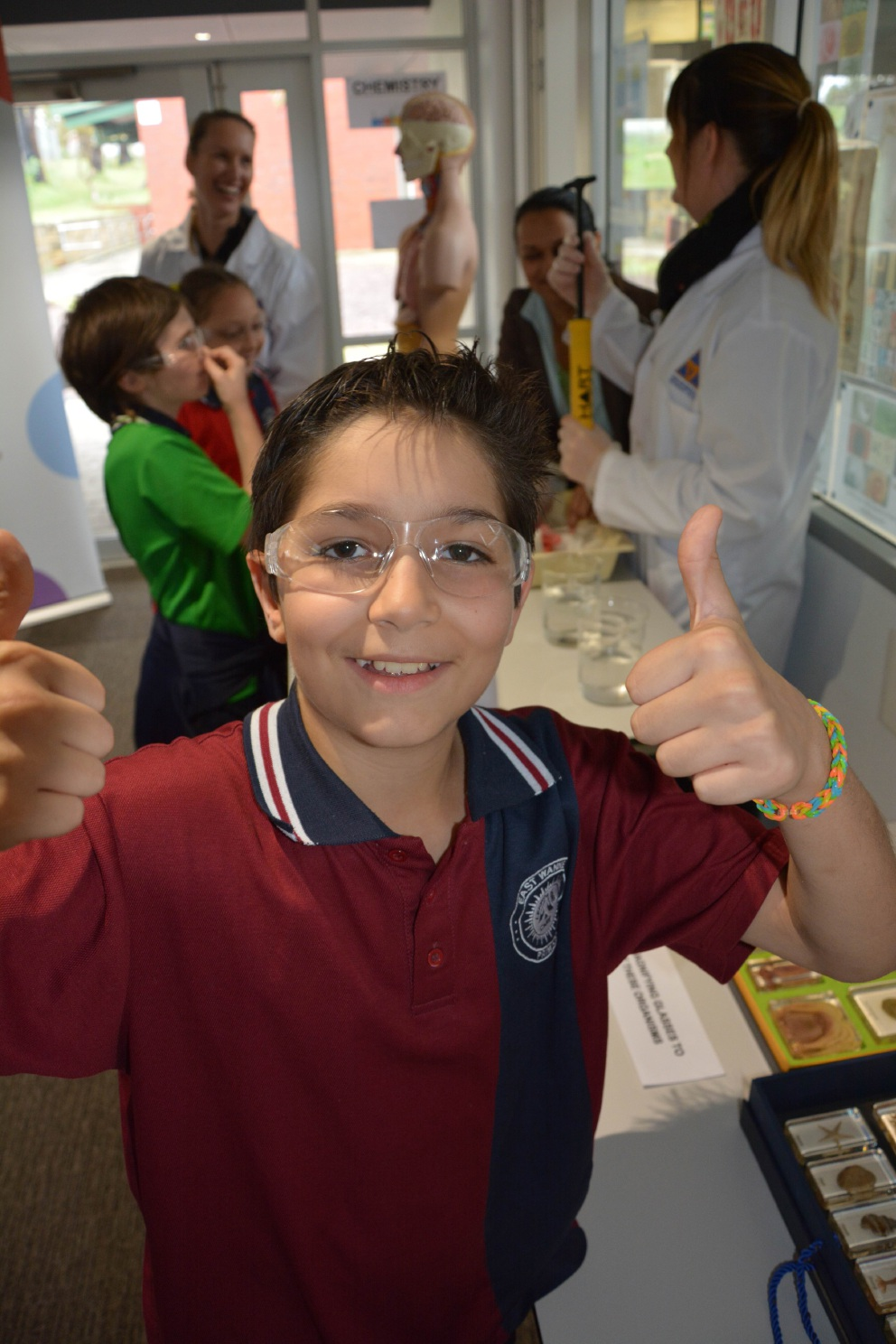 East Wanneroo Primary School Year 7 student Tyson Price gives the festival the thumbs up.
