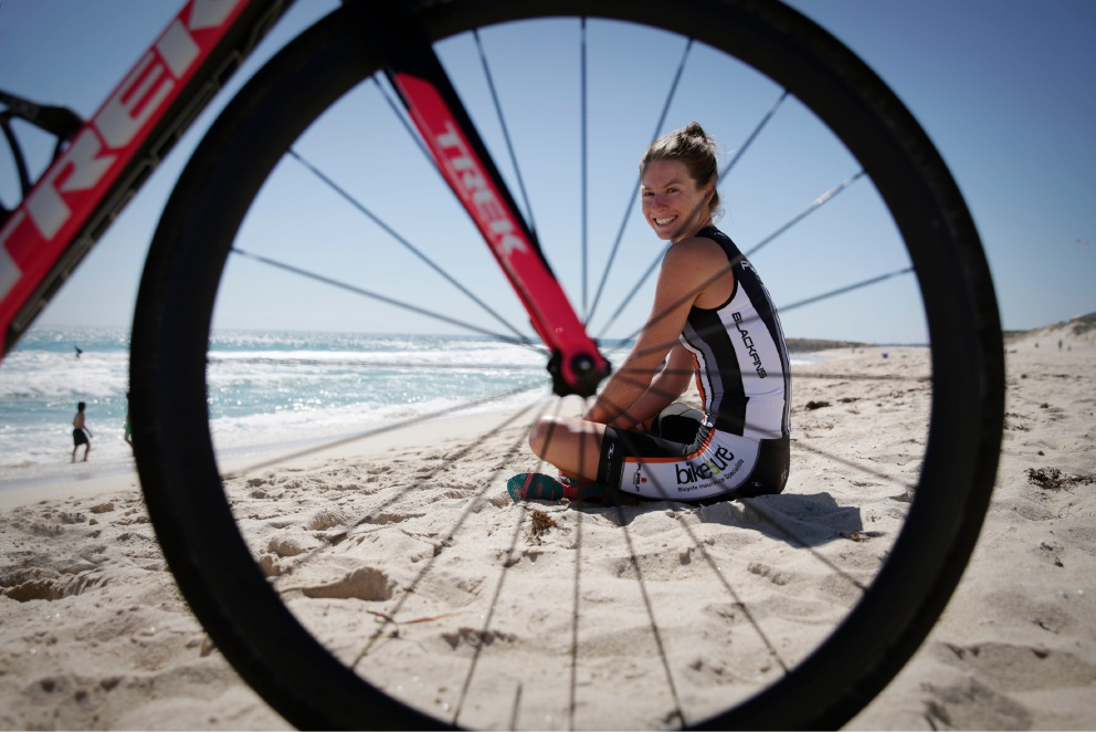 Kate Vernonis is about to take on the toughest one-day endurance sporting event on the planet, the Ironman World Championships. Picture: Andrew Ritchie