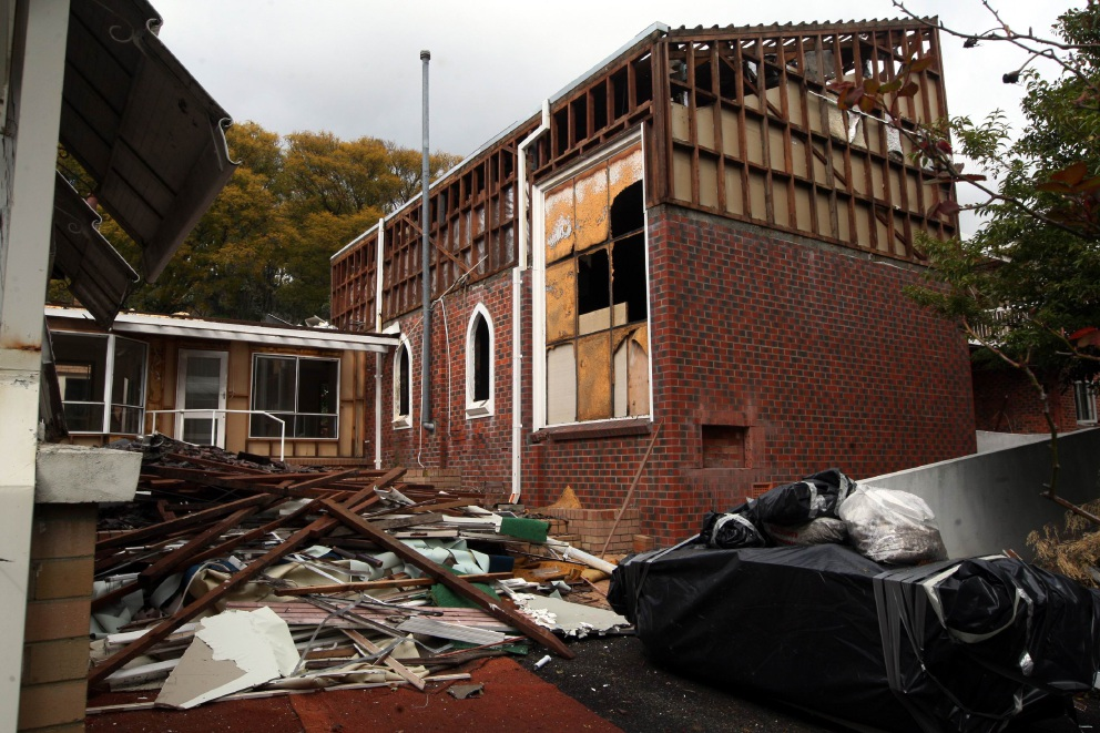 St Emilie's Convent demolished, only facade still standing
