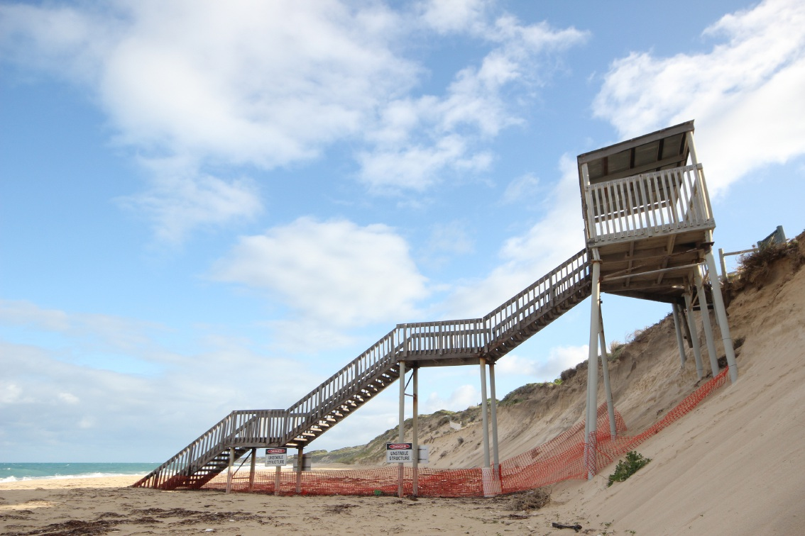 There are concerns about beach access off Sovereign Drive.
