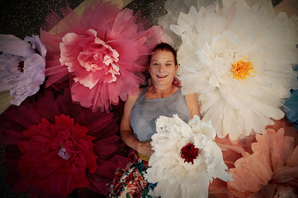 Artist Marina Lommerse's work features in Fashion Meets Flowers. Picture: Andrew Ritchie        www.communitypix.com.au   d460146
