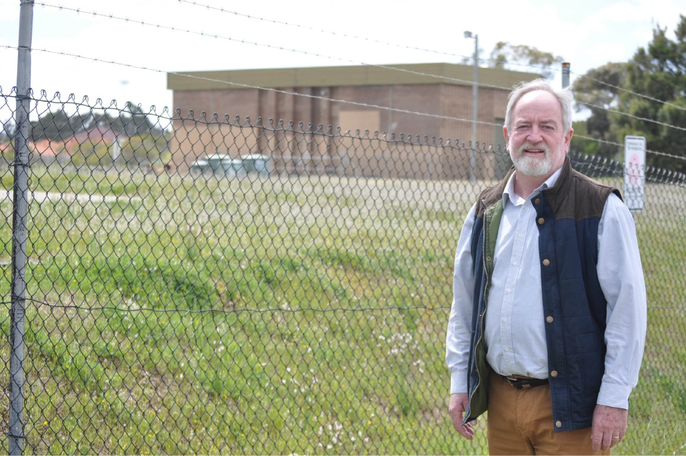 Councillor Bart Houwen outside the Munster pump station.