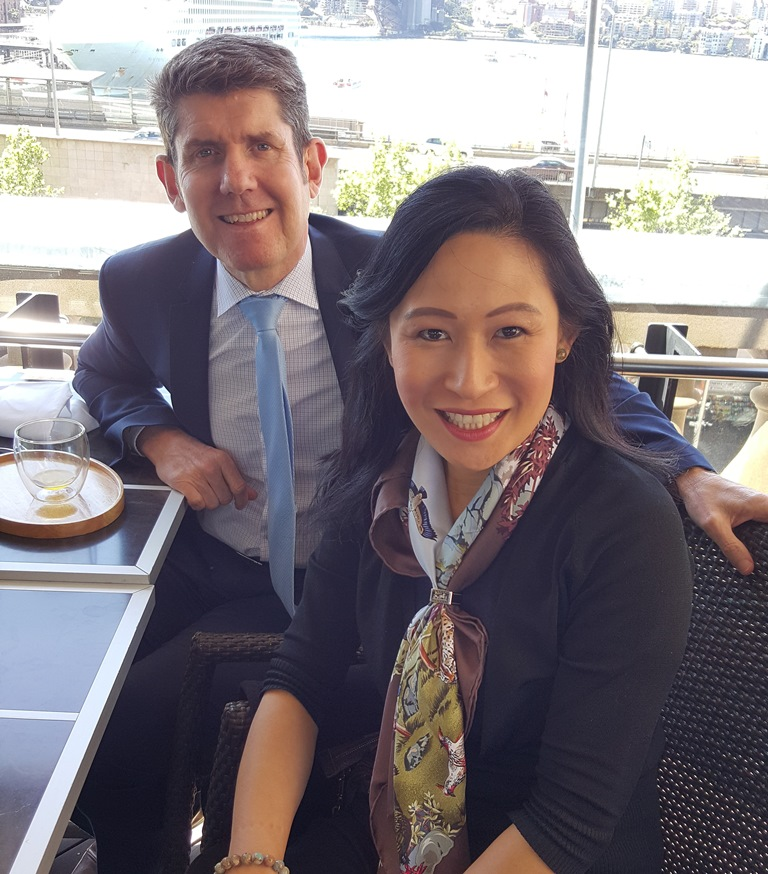 LJ Hooker Claremont director Vivien Yap with LJ Hooker chief executive Grant Harrod. Picture: Supplied