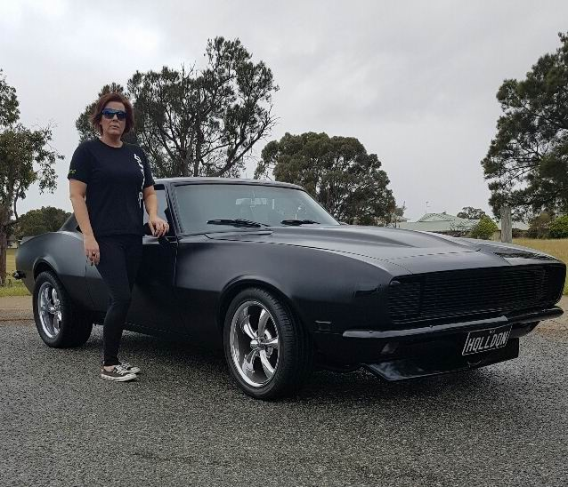Deb Carney with her '68 Camaro