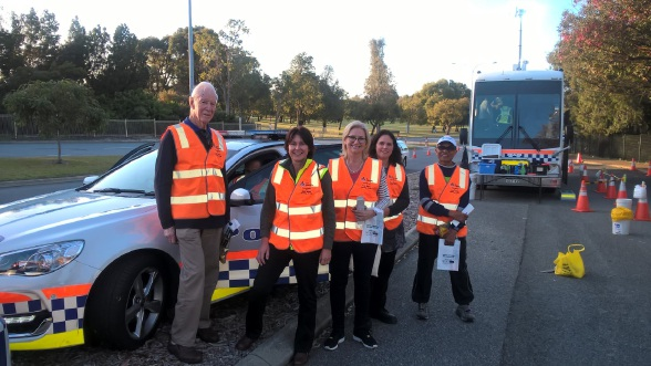 Members of Melville's TravelSmart and road safety working group attended a random breath test session in September.