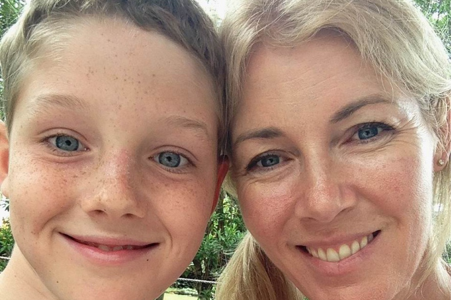 Susanne Latimore and son Manning received support from Redkite after Manning's cancer diagnosis.
