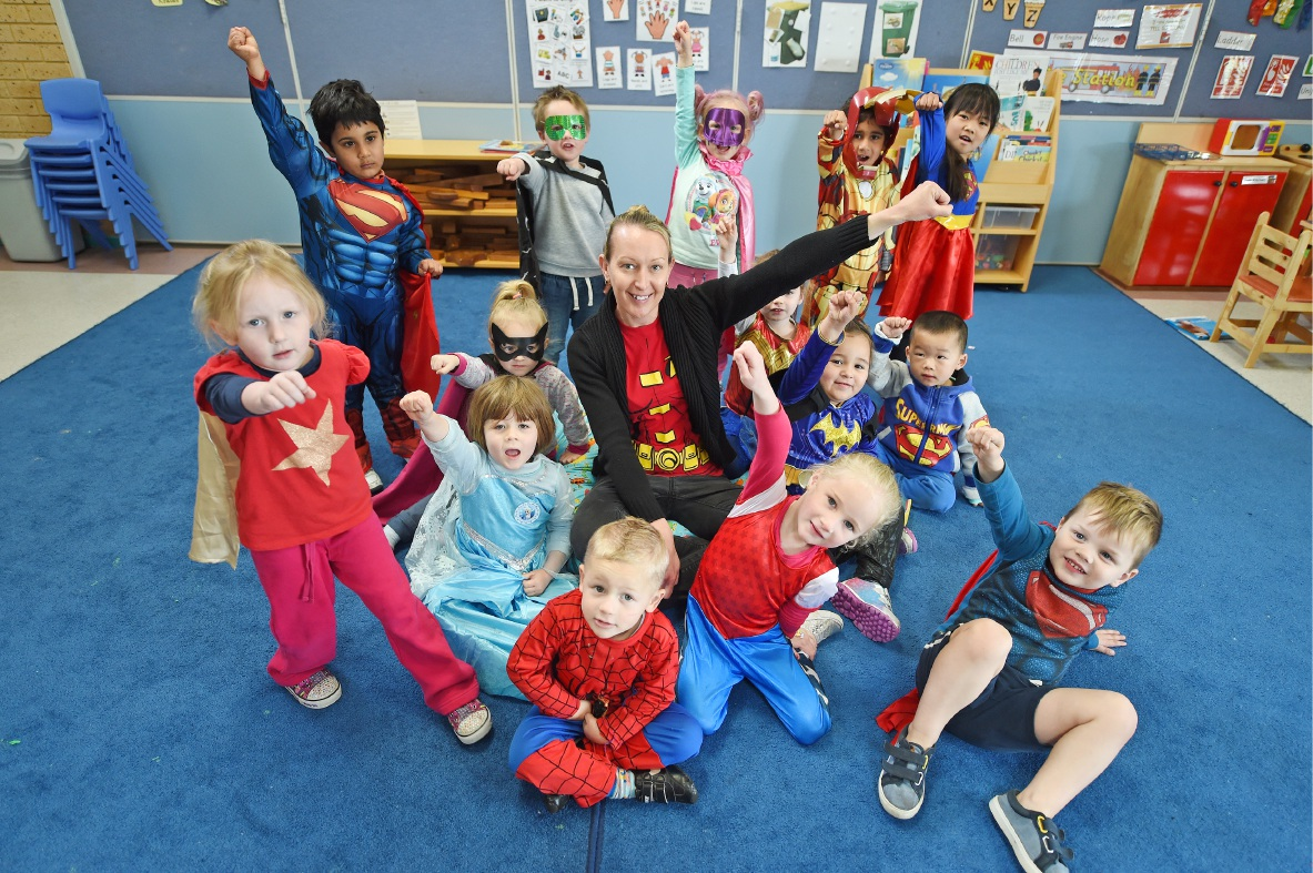 Yangebup Family Centre steps up for muscular dystrophy during National Superhero Week