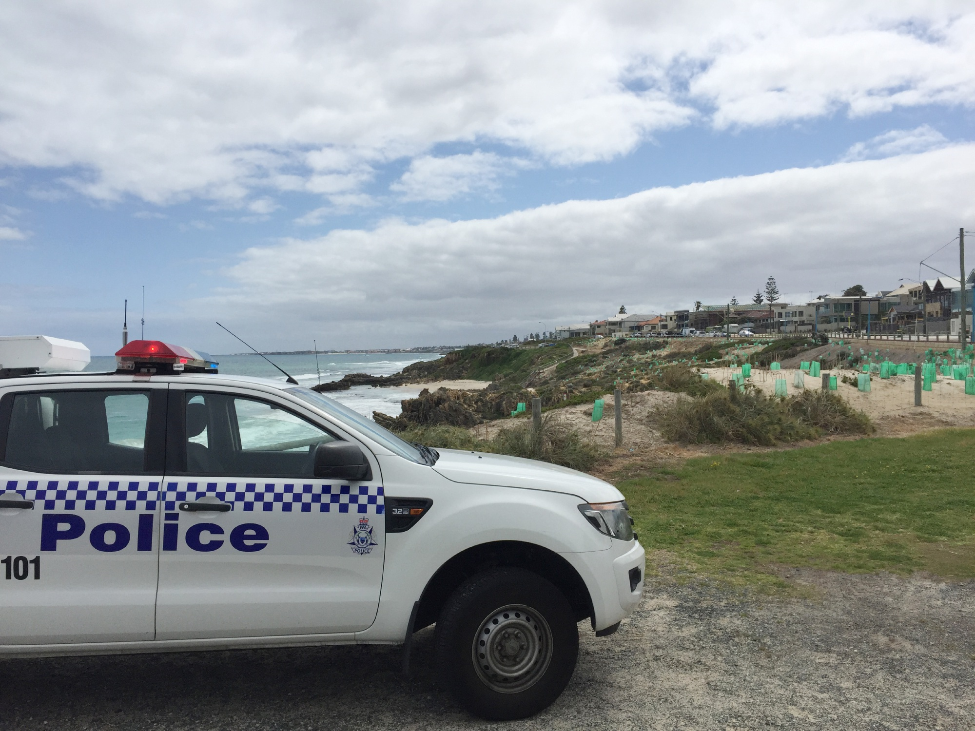 A body was found at a Trigg beach at about 6.15am today.