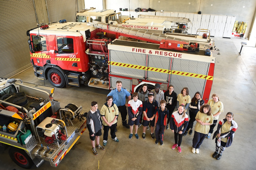 Hamilton SHS cadets attend excercise at South Coogee Volunteer Bush Fire Brigade