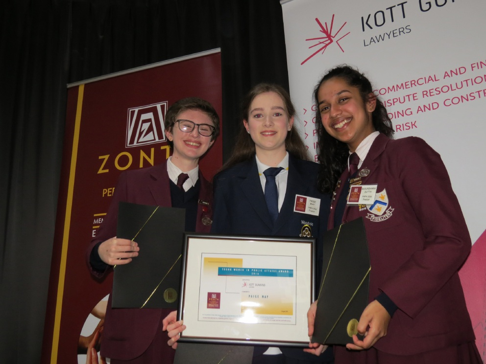 Paige May scoops Zonta Club's Young Women in Public Affairs award