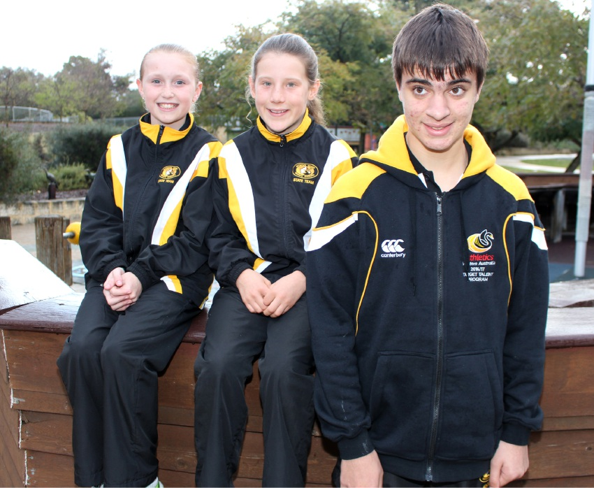 Megan Bell, Tia McArthur and Raynor Keane will represent Melville Roar Little Athletics at the cross country nationals in Canberra this weekend.