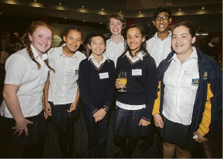 Perth Modern School students attended the Scitech Planetarium as part of the Picture Happiness on Earth program.