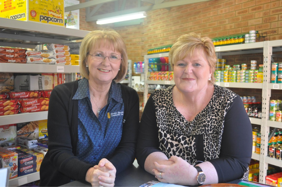 Second Harvest food centre manager Sandy Walquist with Second Harvest chairperson Michelle Ahola at the new store last Tuesday.