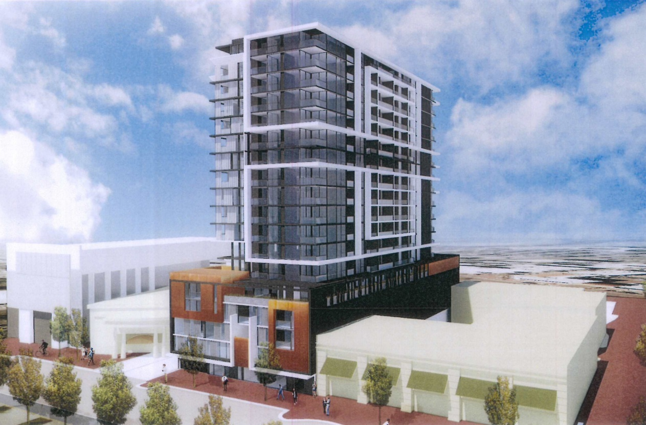 An artist's impression of the development from Grand Boulevard.