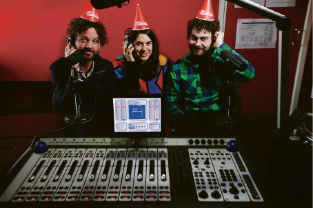 RTRFM general manager Stu MacLeod, DJ Caitlin Nienaber and music co-ordinator Will Backer. Picture: Andrew Ritchie