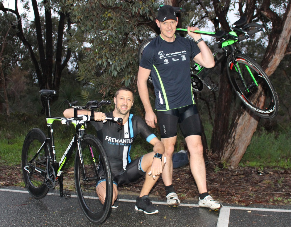 Melville triathletes Rob Shannon and Warren Lund will compete in the Ironman 70.3 World Championships in Queensland on September 4.