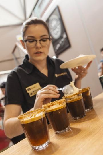 Belmont barista Ellen Taylor won a national award for her coffee-making skills in Brisbane recently.