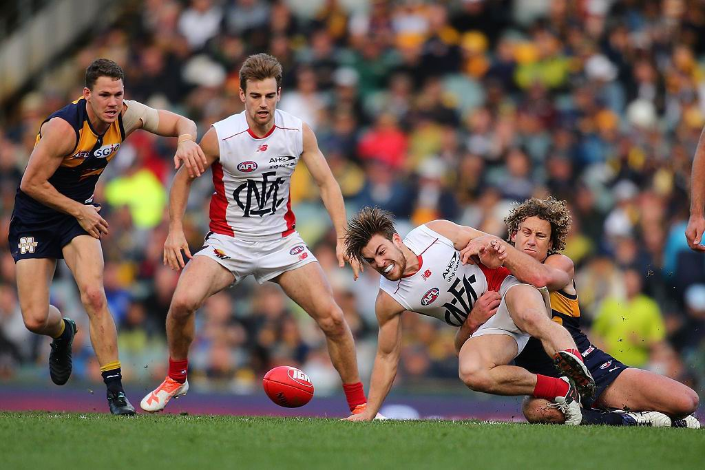 Josh Kennedy has high praise for Melbourne midfielders such as Jack Viney. Picture: Getty Images