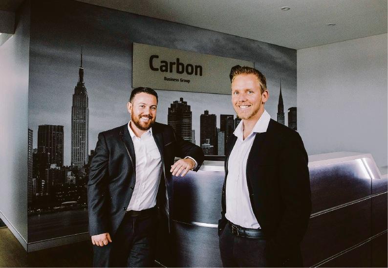 Jamie Davison and Nathan Hood of Carbon Business Group.