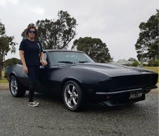 Black beauty: Deb Carney with her 1968 Camaro.
