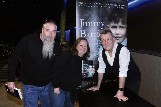 Ron McMillan and Tanya Dodd with Jimmy Barnes.