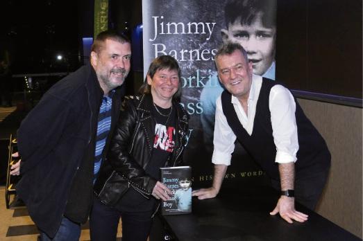 Allan Palmer and Belinda Slater with Jimmy Barnes.