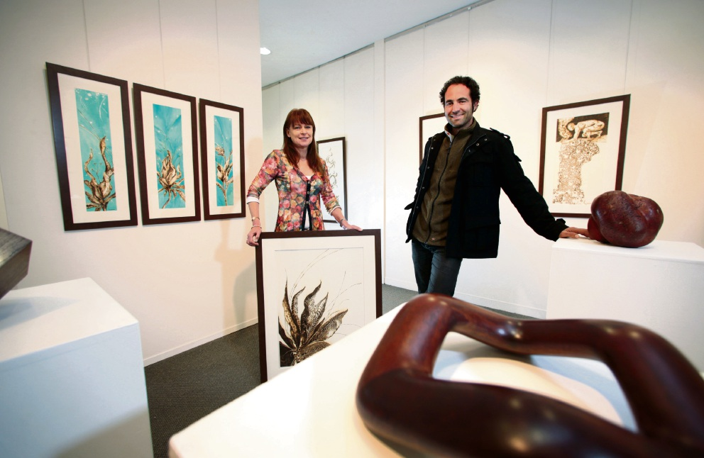 Artists Sandie Schroder and Nick Statham.