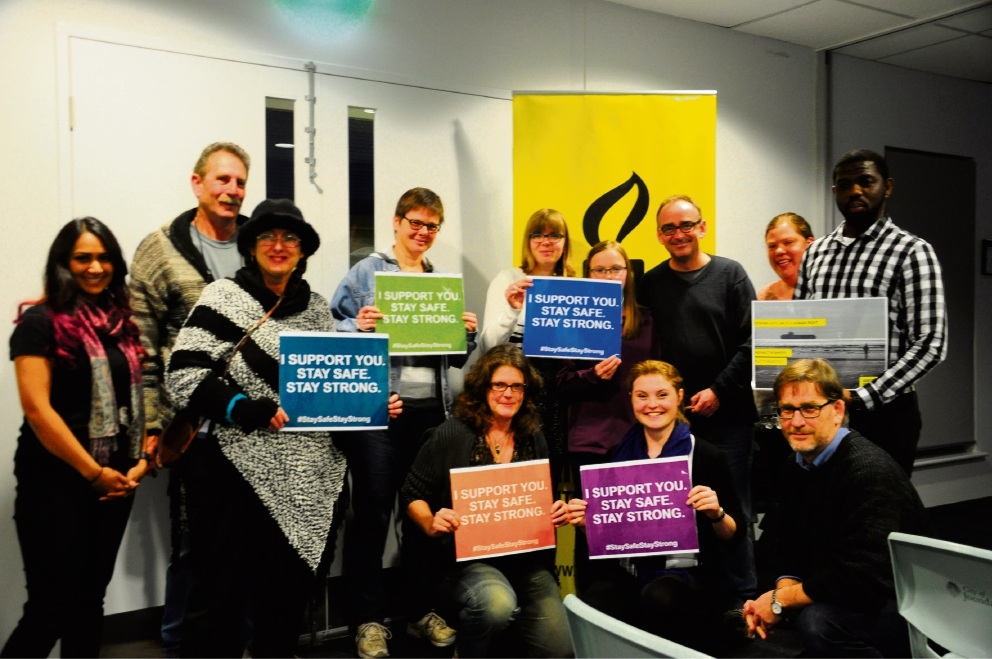 Amnesty International Joondalup Group members, which screened documentary Cast from the Storm in Currambine recently.
