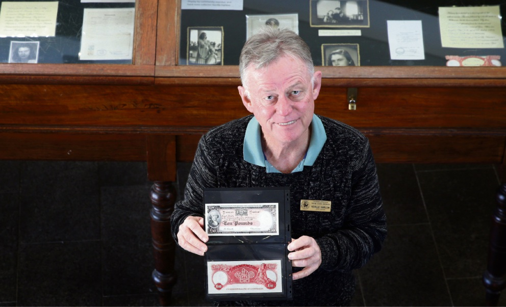 Neville Harlow (Pearsall) with 10 pound bank notes. Picture: Martin Kennealey
