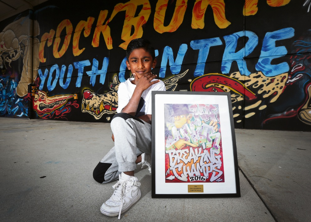 Aadhishan Ganapathipillai (8) recently won a breakdancing competition. Picture: Matt Jelonek        www.communitypix.com.au   d460294