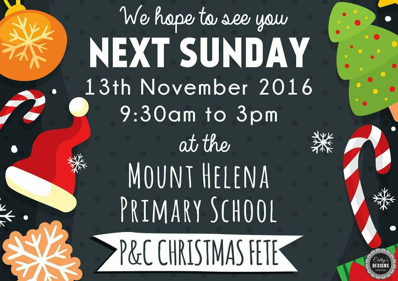 Mt Helena Primary School P&C Christmas Fete