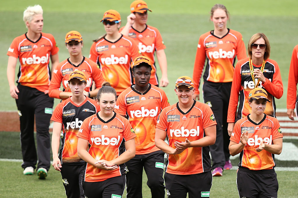 The Perth Scorchers women's team.