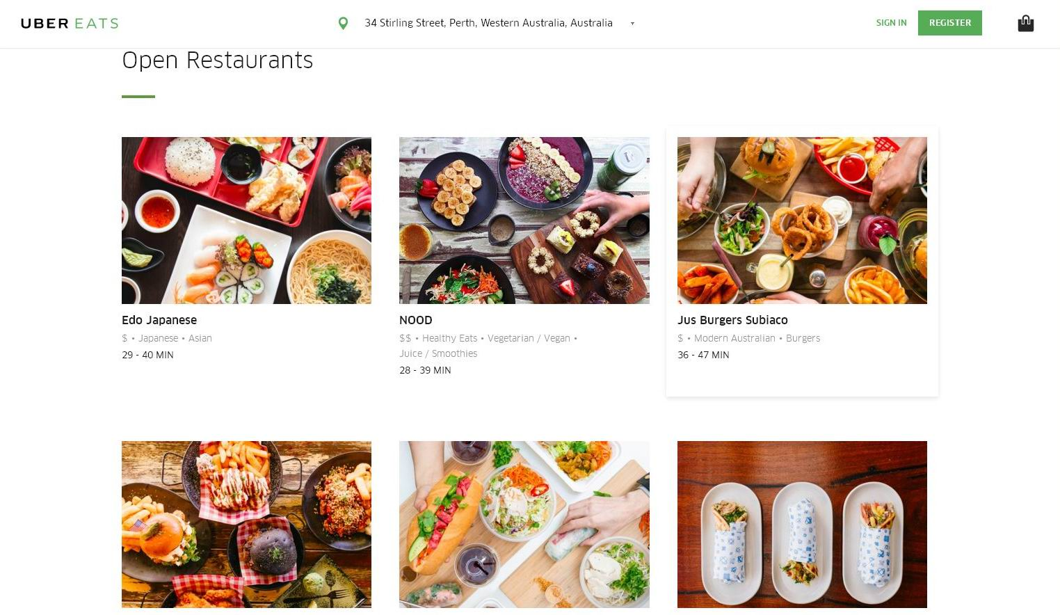 It's here: UberEats is go in Perth.