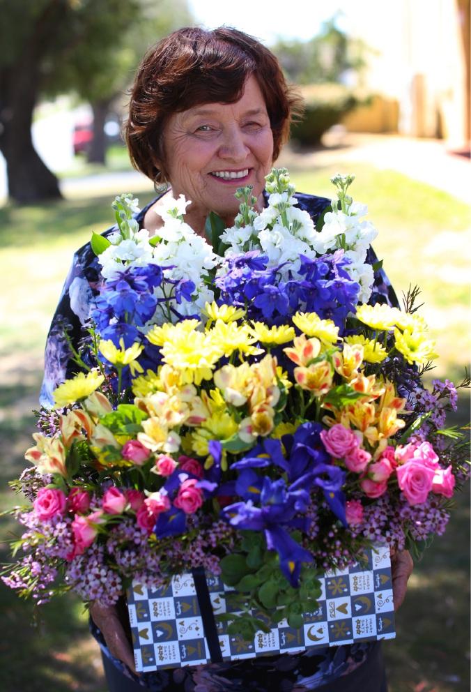 Florist Colleen Mailey promotes the Fantasy of Flowers Show Picture: Matt Jelonek www.communitypix.com.au   d460310