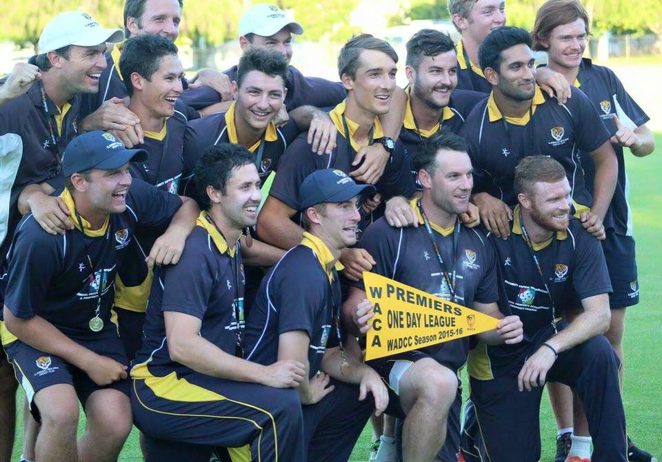 Tigers players celebrate. Picture: Claremont-Nedlands CC