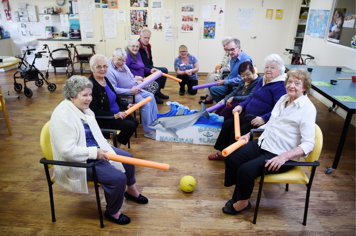 Mercy Place Mandurah residents gear up for games