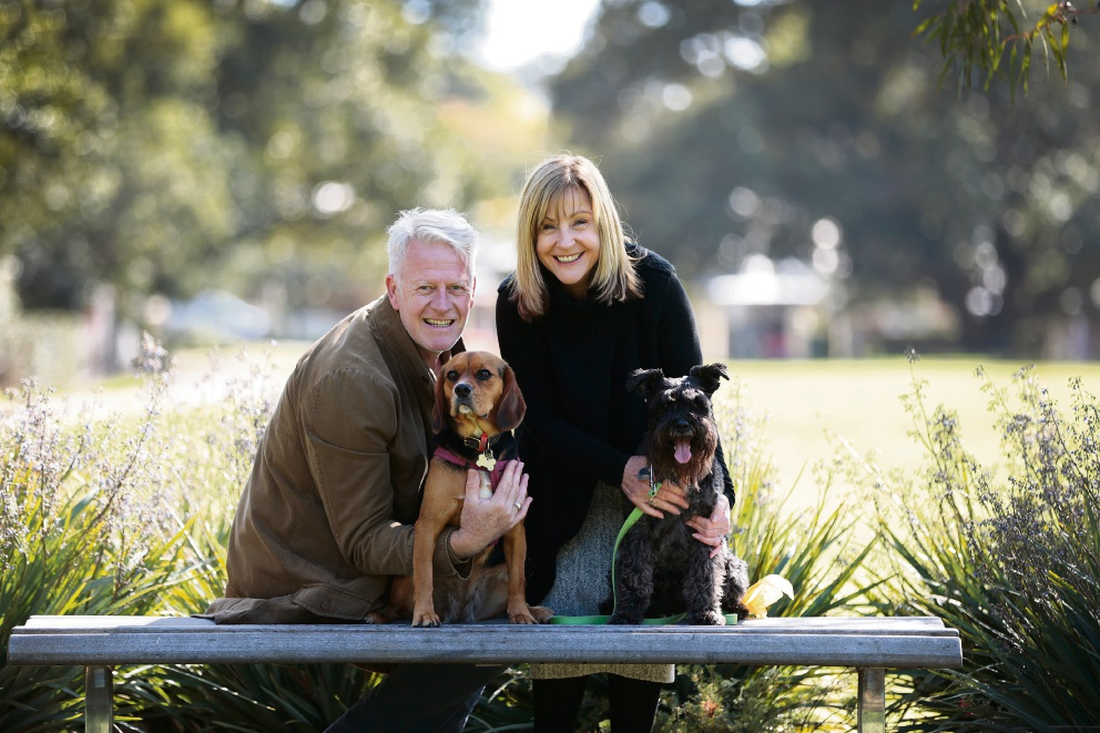 Mark Roberts (Perth) with his dog Isla and Pam Herron with Jeffrey, Mount Lawley will celebrate all things canine at the Dogtober-themed Beaufort Street Artisan Market on Sunday 9 October.
