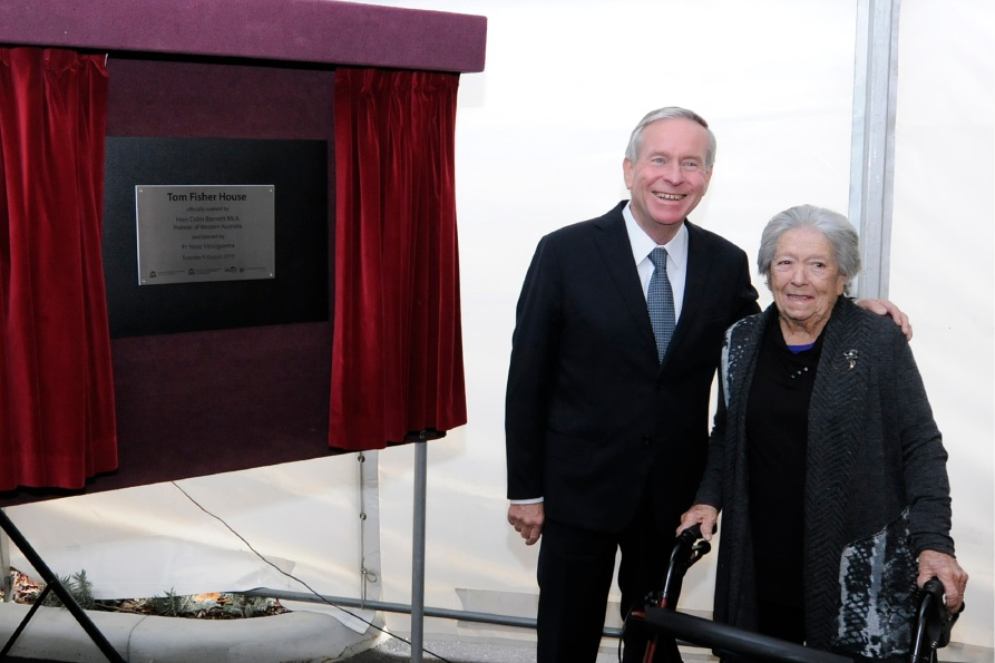 Premier Colin Barnett with Shirley Fisher. Picture: Joondalup Photo Design