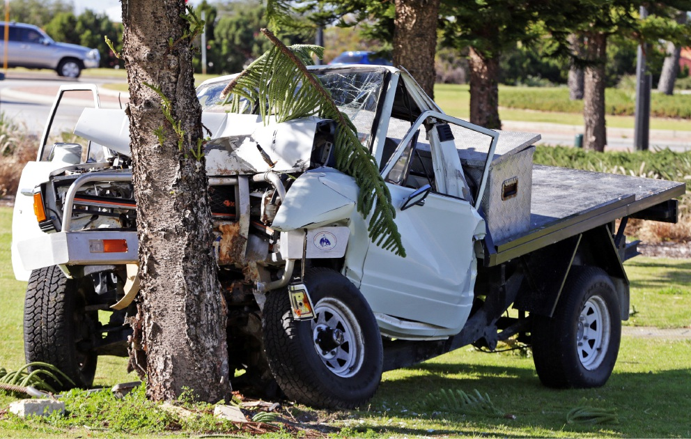 Drunk Driver Crashes Car Into Tree