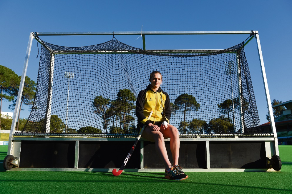 Maylands hockey goalkeeper Aleisha Power. Picture: Jon Hewson