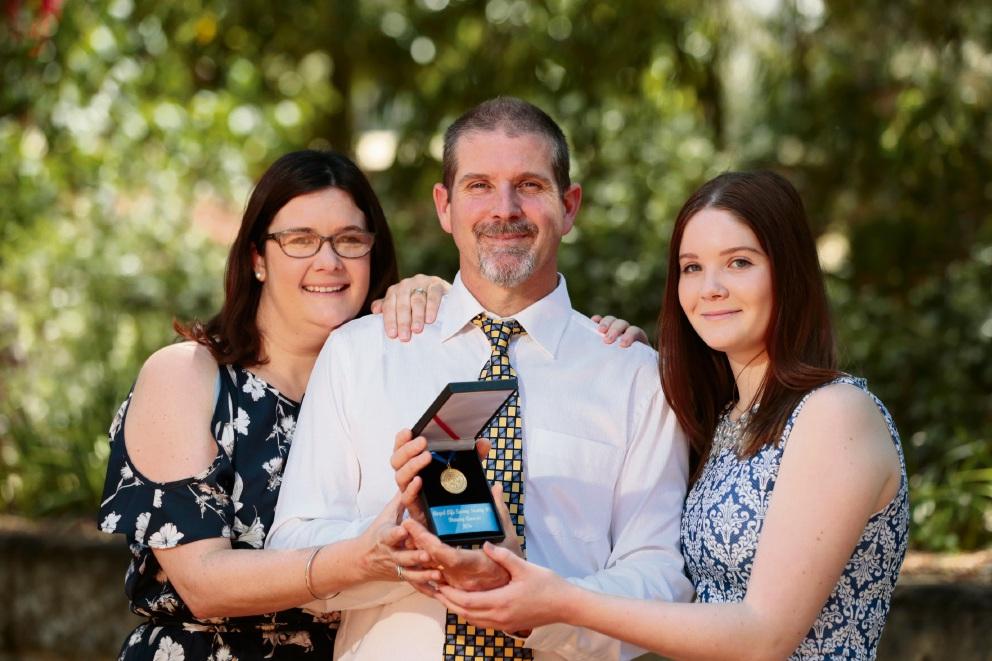 Kerrin Girando, Chris Girando and daughter Amberley Girando (24). Picture: Andrew Ritchie
