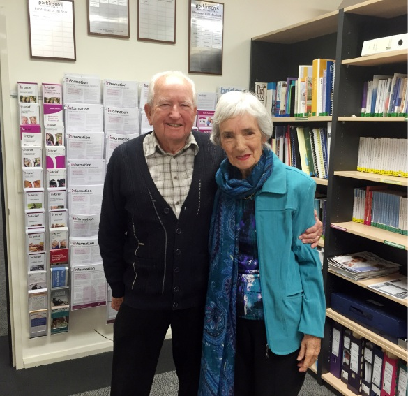 Support through song: Brian and Grace O'Malley.