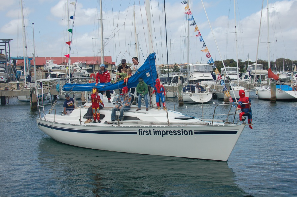 First Impression won best dressed yacht.