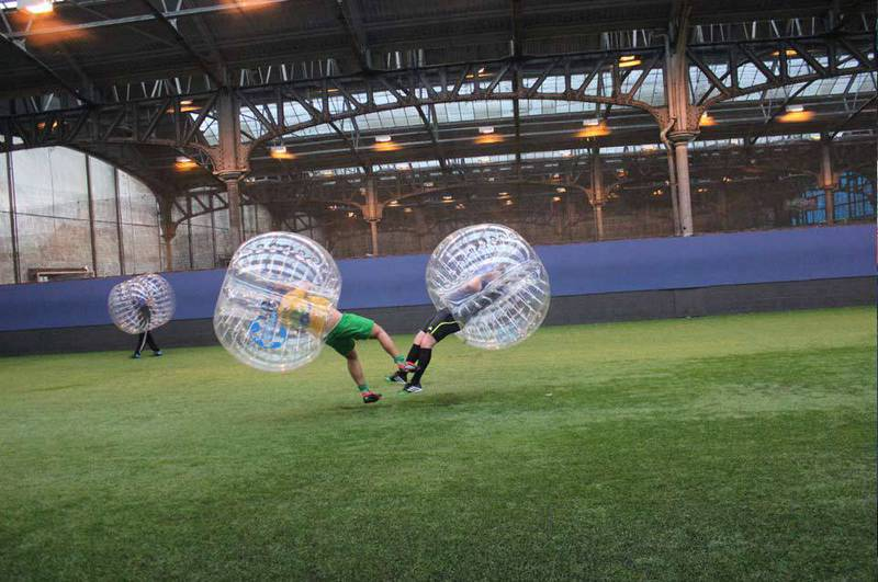 Bubble soccer comp to run in conjunction with the Bonjour French Festival