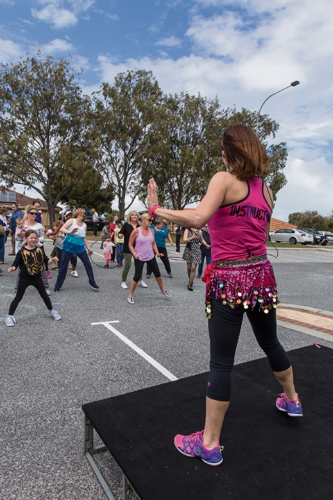 Zumba instructor. Picture: Will Russell d460388