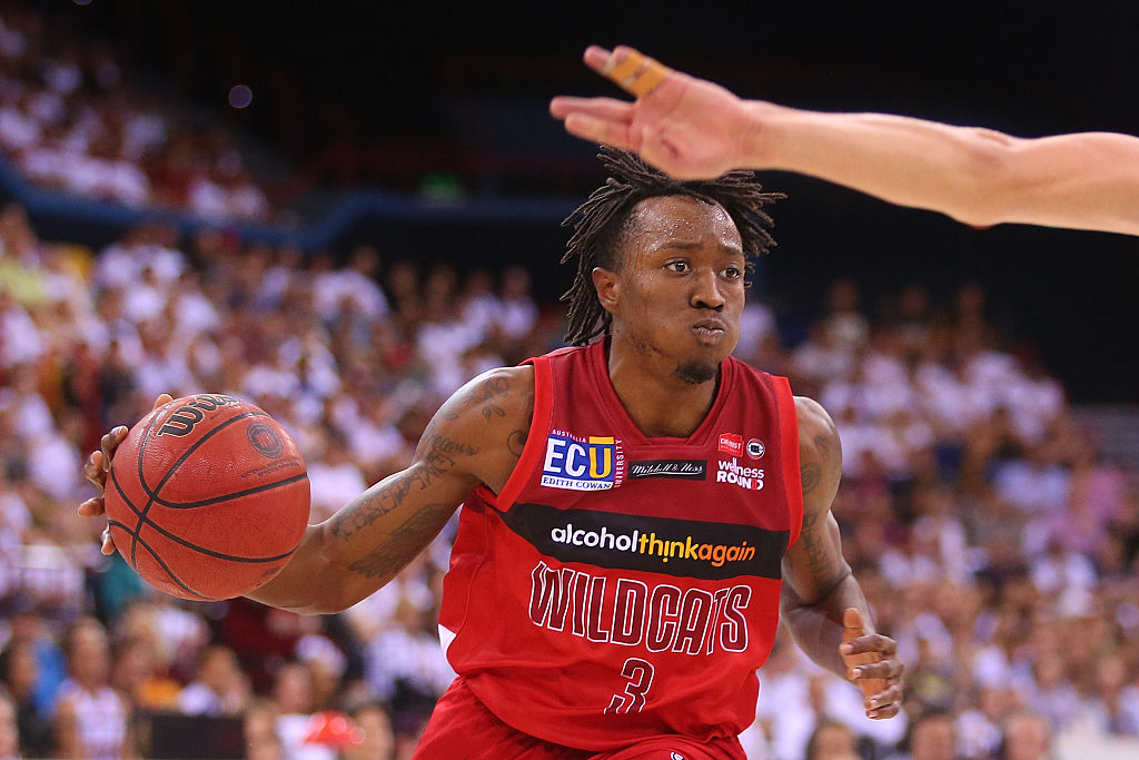 Jaron Johnson has been re-signed by the Perth Wildcats. Picture:  Chris Hyde/Getty Images