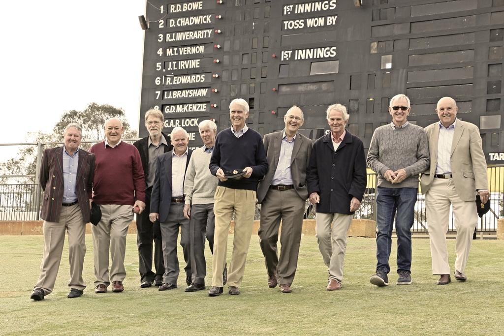 The surviving members of WA's inaugural 1967-68 Sheffield Shield squad.
