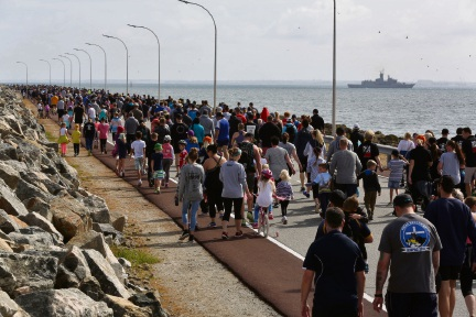 HMAS Stirling Walk to Work Day: annual causeway walk draws crowd