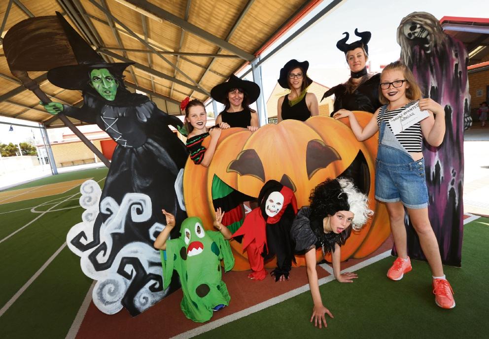 Mindarie Primary staff find frighteningly good reason to run on Halloween