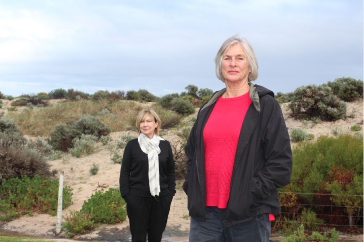Beth Kennedy, of Save Our Sand Dunes, and Robyn Murphy, of Friends of Trigg Beach. Picture: Kate Leaver.